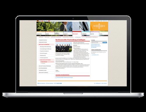 www.wiesbaden.de präsentiert die Kanzlei Wartenberg & Kollegen mit einem Unternehmensporträt